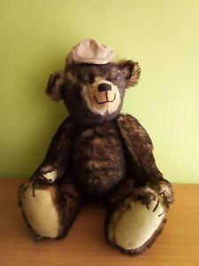 "Vintage German 70's Mohair Teddy Bear Growler 17"""