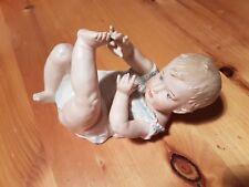 Antique Gebruder Heubach Bisque Porcelain Piano Baby No. 3102