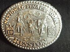 """1989 Hesston National Finals Rodeo NFR Belt Buckle Fits up to 1 3/4"""" Belt NEW"""
