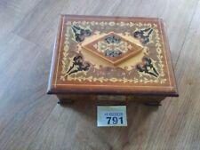 Inlaid Sorrento Musical Jewellery Box Secret Lock