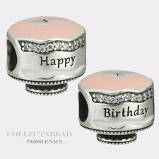 Authentic Pandora Silver Enamel Birthday Cake Bead 792061ENMX