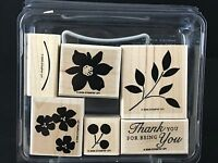 Stampin' Up Best Blossoms Set of 6 Wood Rubber Stamps 2006 Retired