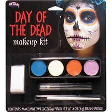 Sugar Skull Dia de Muertos Day of the Dead Face Paint Makeup Kit Ghost Girl