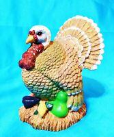 Small Turkey Thanksgiving Autumn Fall Holiday Vegetable Ceramic Figure