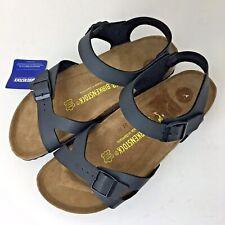 Birkenstock Milano Leather Sandals Ankle Strap Slingback Slipper Shoes Slides