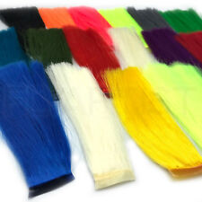 FISHAIR - Hareline Bucktail Substitute Fly Tying Synthetic Hair - 16 Colors NEW!