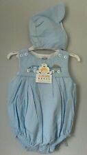 Quality Baby Boy's Shortie Romper Suit/Playsuit & Hat Set.0-3 Months Train Theme