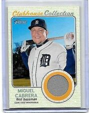 MIGUEL CABRERA 2017 TOPPS HERITAGE CLUBHOUSE COLLECTION GAME USED JERSEY