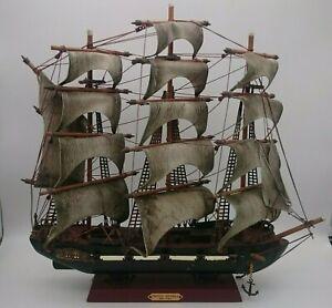 "Vintage Wooden Tall Spanish Frigate Ship Model 17.00"" x 15.75"" Fragata Espanola"