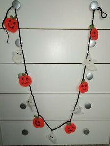 Handmade Crochet long Halloween 🎃pumpkin 👻Ghost Garland/ Bunting Decoration 2M