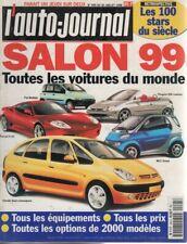 L'AUTO JOURNAL 1998 495 SALON DE L'AUTOMOBILE TOUTES LES VOITURES DU MONDE 1999
