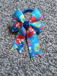 Girls arial Mermaid hair bow bobble BN