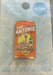 Hard Rock Cafe SAN ANTONIO 2020 SODA POP USA Regional Series PIN New on Card!