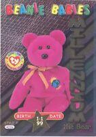TY Beanie Babies BBOC Card - Series 3 Birthday (GOLD) - MILLENNIUM the Bear NM/M