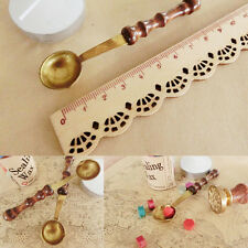Brass And Wood Spoon For Melt Wax Melted Dissolve Wax Seal Stamp Envelope Craft/