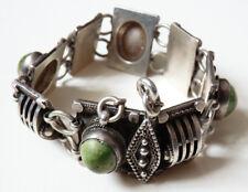 Superbe bracelet en argent massif avec turquoise silver style ethnique