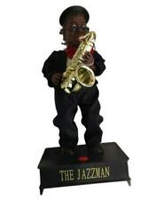 The Jazzman Toy Moving Music Plays Saxophone Jazz Sings And Dances W/Box Works!