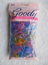 500 Goody Ouchless Fine Hair Elastics Small Colored Plastic Pony Polybands Value