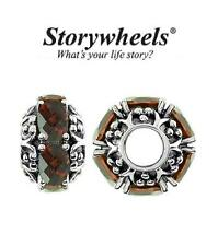 STORYWHEELS Sterling silver & GARNET charm bead, RRP £80, January Birthstone
