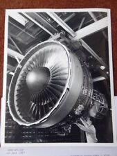 PHOTO PRESSE 1987 + INFOS MOTEUR GENERAL ELECTRIC CF6-80C2 ENGINE AIRBUS BOEING