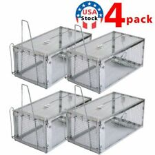4x Big Mouse Trap Rat Trap Rodent Trap Live Catch Cage ,Easy to Set Up and Reuse