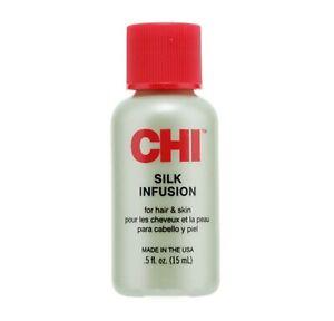 CHI Silk Infusion Damaged Dry Hair Repair Shine Serum Oil Heat Protection 15ml