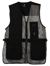 Browning Team Trapper Creek Mesh Shooting Vest Black Gray Men's Large 3050269903