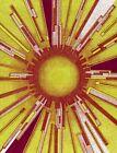 Original Signed Artwork Pointillism Drawing Titled Artificial Sun