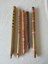 More details for wooden flutes, lot of 5 folk flutes