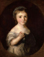 Oil painting Joshua Reynolds - Georgiana (Spencer), Duchess of Devonshire canvas