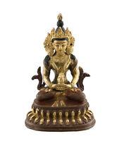 Estatua Tibetano De Buda Amitabha Cobre Y Baño de Oro Nepal Buda AFR9-3480