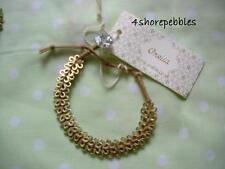 New Orelia Flower Daisy Bracelet Friendship Charm Brown Gold Jewellery Button