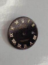Rolex men's  Datejust  Black Jubilee custom Romans Numeral Dial 2-T .