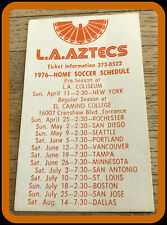 1976 LOS ANGELES AZTECS LOVES BARBECUE SOCCER POCKET SCHEDULE FREE SHIPPING