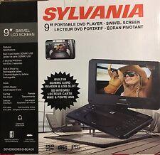 BRAND NEW SYLVANIA 9 INCH PORTABLE DVD PLAYER SDVD9000B2 BLACK LCD SCREEN SWIVEL