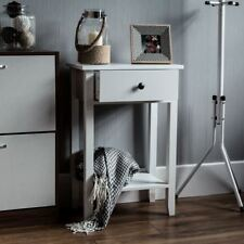 Windsor 1 Drawer Console Table Shelf Hallway Side End Dressing Table Desk White