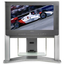 Sony Trinitron Kd-34Xbr960 Hdtv Crt Tv Television with Matching Stand