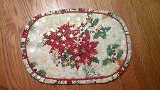 Homemade place mats set of 4 christmas poinsettia flower beautiful gift 4 table
