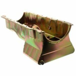 Milodon 30975 Oil Pan Steel Gold Iridite 6 qt. For Chevy Big Block Mark V NEW