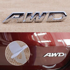 Silver AWD Metal Emblem Sticker Badge Decal for 4 Wheel Drive Car SUV Tailgate