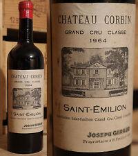 1964er Chateau Corbin - Saint Emilion Grand Cru Classe - Top Rarität !!!!!!