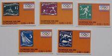 Stadspost - 5 zegels Olympische Spelen, Olympics Amsterdam 1928-1988 ongetand