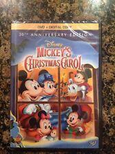 Walt Disney Mini Classics'Mickeys Christmas Carol(DVD+Digital,2013)NEW Authentic