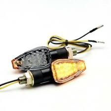 LED Motorcycle Turn Signals Indicator Blinker Lights Amber For Suzuki DRZ400SM Q