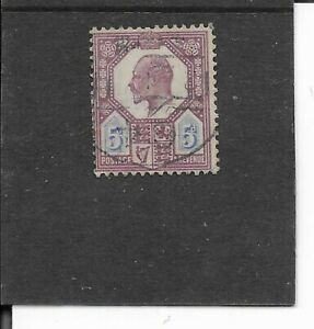 GREAT BRITAIN 1902. KING EDWARD V11. 5 P. FINE USED. AS PER SCAN
