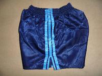 vintage yugoslavia 80s Adidas Nylon Sprinter Shorts glanz shiny pants blau D5 M