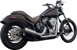 FireBrand - 12-1011 - Chrome FiftyTwo52 2-Into-1 Exhaust 2007-Up Harley Softail