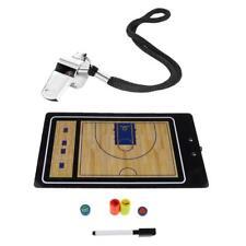 Set Tableau Tactique Magnétique de Basketball + Sifflet Avec Corde Lanyard