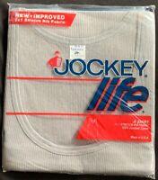 Men's Vintage 80s Jockey Life Gray Muscle A T- Shirt Sz XL Stretch Rib Gray