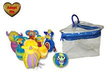 Melissa & Doug Monster Bowling Game 6 Pins 1 Ball Complete Stuffed Plush Set Bag